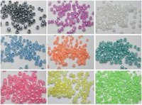 seed beads - 5000 Mixed Ceylon Pearl Color Glass Seed Beads mm Storage Box