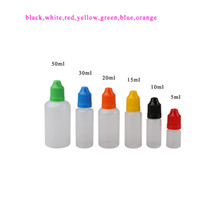 Wholesale PE Empty Bottles Soft Style Plastic Dropper Empty Bottle With Colorful Childproof Cap E Cig E Liquid From WOLFS