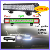 Wholesale 20inch W CREE LED Spot Flood Light WD Work Light Bar Offroad Truck UTE Fog Lamp x4 ATV Off Road Car Work Working Lamp Combo Beam