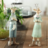 Wholesale Special for American Village Christmas moose ornaments resin crafts decorations soft home