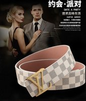 Wholesale leather men Business Jeans casual Alloy Automatic Buckle black white brown waist strap belt brand good quality L European style