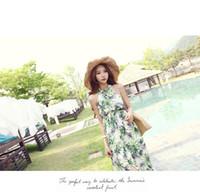 hawaiian dresses - 2015 New Hot Maxi Dress Summer Skirt new women Hawaiian Halter Long Dress high quality beach resort maxi dresses for women