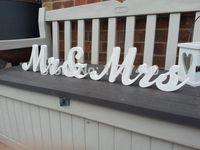 Wholesale cm Handpainted Freestanding Wedding Letters Mr Mrs New Script