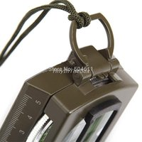 army tm - E Trade TM Portable Military Army Compass Outdoor Camping Exploration Tool with Fluorescent Light Army Green