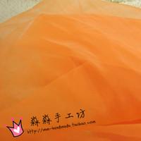 Wholesale Hard in the orange organza made transparent KeGen yarn fabrics of wedding dresses