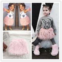 batik lot - baby girls faux fur tassel princess tutu skirts casual outfits hot sale kids clothes for cm