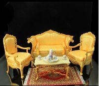 dollhouse miniature - 1 dollhouse miniature model BJD photographic props yellow living room furniture
