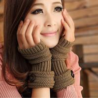 Wholesale 6pair Fashion Winter Arm Warmer Fingerless Glove Knitted Mitten Soft Warm for keyboard glove Colours SKU A587