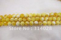 amber stone beads - Fashion White Yellow Amber Resin beads mm round natural stone beads beads string