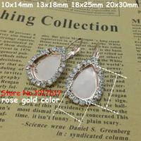 Wholesale Teardrop Shape Fashion French leverback hooks Earrings earrings blank for gemstone making in For high jewelry making