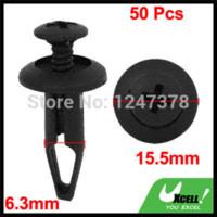 Black Fastener & Clip CE 50 Pcs lot Plastic Rivets Car Door Trim Panel 6.3mm Retainer Clips Discount 50 Clips door ideas