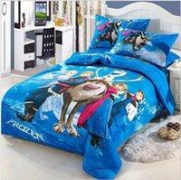 Wholesale frozen bedding set kids twin size bedding bed linen set for baby cartoon D bedding sets cotton bedsheet bedclothes B15 LS2