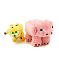 Wholesale quot New Arrivals quot Minecraft Toy Minecraft Big Size Ocelot Pink Pig Plush Doll CM In Stock