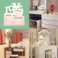 Wholesale New DIY Photo Frame Hollow Love Wooden Family Photo Picture Frames Blank DIY Paint Picture Photo Frame Home Decor