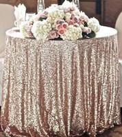 Wholesale 2016 Custom Size Wedding Champagne Sequin Cloth Sequin Table Cloth Sequin Table Cloths Sparkly Champagne Table Sequin Linens