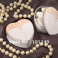 Cheap Free shipping to Europe wedding tin boxes of Dressed to the Nines - Wedding Dress Mint Tin 35pcs lot(real photo attached)