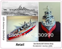 battleship arizona - Top Quality High Simulation USS Arizona Battleship D Paper Craft Model New DIY Assembled Warship Paper Modeling Toy