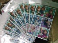 Wholesale Cartoon Frozen Stickers Party decoration Kids toys party favors ELSA ANNA princess classic Toys for children sheet _A
