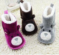 Wholesale 2015 cartoon knitting baby pink baby toddler waist zipper boots Newborn baby thickening casual boots pair CL