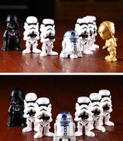 Wholesale 5SET HHA462 Star Wars Darth Vader R2D2 stormtooper a kids toys Gifts for fans Star wars action figures