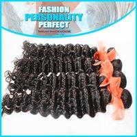 Wholesale 7A Burmese Virgin Hair Weft Extension Unprocessed Deep Wave Natural Color Burmese Virgin Human Hair Weave Factory Products