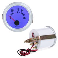 Wholesale Auto Car quot mm V Voltage Meter Gauge Voltmeter With Blue LED Light