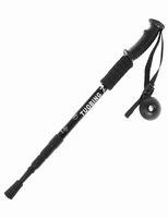 Wholesale Ultra light Aluminum Alloy Adjustable Telescopic Trekking Poles Portable Black Alpenstock Hiking Walking Sticks Damping Crutch QAD3