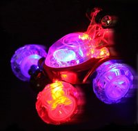 Wholesale Electric stunt car remote control car wingover dump car boy toy car LED LIGHTS