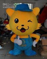 Wholesale New arrival Fast custom Yellow fox mascot costume