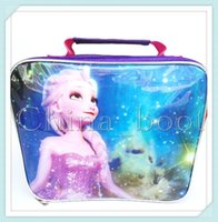 Wholesale frozen kids lunch bags styles Elsa anna snow olaf printed children snack bags girls food packages handbags