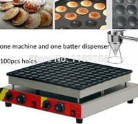 Wholesale 100pcs Commercial Use Non stick v v Electric Poffertje Mini Dutch Pancake Machine Maker Iron Baker with Batter Dispenser