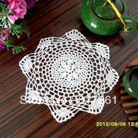 Cheap 2014 new IKEA fashion lace felt as innovative item for household coaster cover towel zakka rustic crochet heat pad 6 pic lot20cm