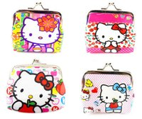 Cheap 48Pcs Hello Kitty Girl Kisslock Clutch Coin Bag Purse Wallet Party Birthday Gift