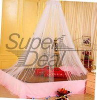 Wholesale 1pcs Round Elegant Lace Dome Mosquito Net Insect Bed Netting Curtain Canopy