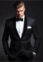 Wholesale Side seam a button the groom s best man suit wedding dress wedding suit jacket pants tie vest