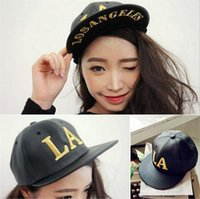 baseball type hats - LA Hip hop Leather baseball caps Prettybaby ball cap hats christmas gift short Peaked caps types for you