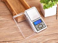 Joyería de la escala Mini Digital electrónica báscula de peso del bolsillo del balance de Gram escala de visualización del LCD con la caja al por menor de 500 g / 0,1 g 200g / 0.01g