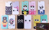 all'ingrosso dark and lovely-Bella Cartoon Style Glow in the Dark Eyes caso antiurto TPU Cover per iPhone 5s 6 più iPhone6