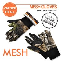 Wholesale Xhunter Camo Mesh Gloves For Hunting Shooting Breathable Antiskid Summer Gloves