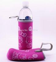 Wholesale Hello Kitty Cartoon cup sets Mug sets Beer sets Neoprene Cup sets Pink order lt no track