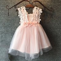 Wholesale Clothing For Kid Girls - Hug me Baby Girls Clothes Lace Tutu Dresses Childrens Prubcess Sequins Dresses for Kids Clothing 2015 Winter Summer Party Dress ZZ-449