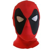 Wholesale Halloween Deadpool mask Hoods Cosplay Costume Lycra Spandex Mask Red Black Adult sizes