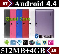 Wholesale 7 Inch A33 Quad Core Tablet Allwinner Android KitKat Capacitive GHz DDR3 MB RAM GB ROM Dual Camera WIFI