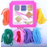 crafts for children - Knitting Weave Plastic Loom Needle Hook Tool Kit For Kids Children Toy Handbag Coaster Potholder Craft DIY New dandys