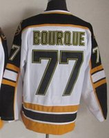 77 - Bruins Ray Bourque White Black CCM Throwback Stitched Hockey Jerseys New Season best Cheap Ice Hockey Wear from yakuda s store