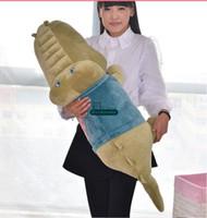 alligator soft toy - Dorimytrader New cm Funny Giant Alligator Doll Stuffed Soft Plush Cartoon Animal Crocodile Toy Colors DY60873