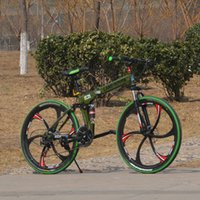 Wholesale Bikes speed bikes army green color inch full suspension bikes folding bicyle with High carbon steel onewheel