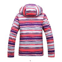 Wholesale FreeShipping beautiful colorful stripe Newly brand ski snow suit women waterproof windproof outdoor suit jackets