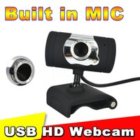 Wholesale 2015 Hot USB mega Pixel Web Cam HD Camera WebCam With MIC Microphone Black color For Computer PC Laptop NotebooK