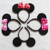 mouse animal - mouse ears headband hoop dance festival Children mickey and Minnie mouse ears headband baby headband Christmas birthday party supplies